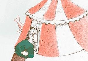 Circo Calder, Jimena Zuazo. Revista infantil La leche