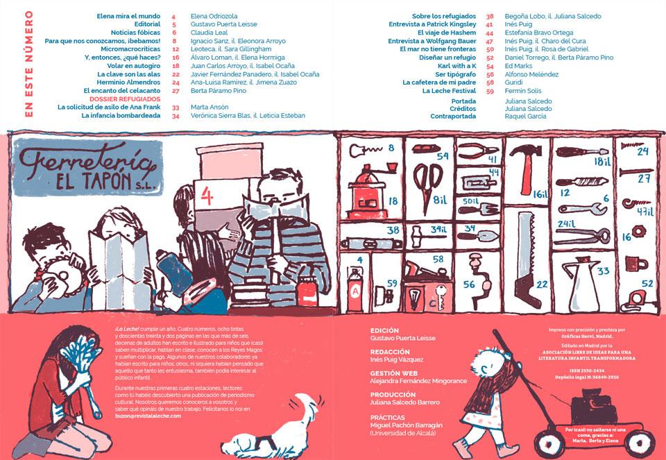 Revista infantil ¡La leche! #4